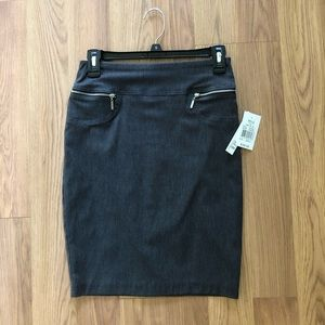 Gray business casual pencil skirt. Brand New
